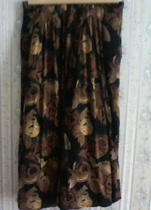 Красивая вискозная юбка в пол, разм. 44-46