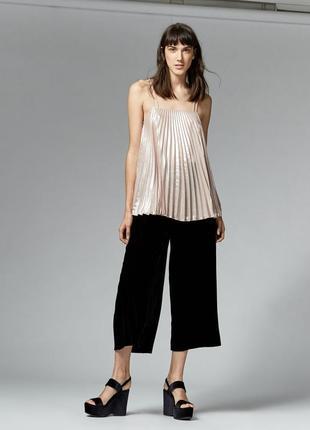 Шикарные бархатные брюки кюлоты от warehouse! p.-14