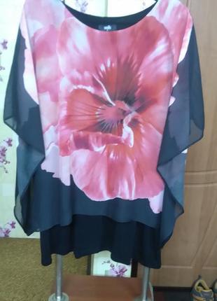 Шикарная двухслойная блуза wallis р.xl