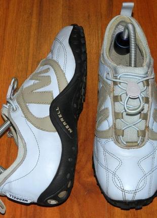 Merrell! непромокаемые, оригинальные, стильные, кожаные трекинговые кроссовки