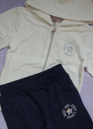 Фірмовий спортивний костюм марки wanex: кофта з капюшоном та штани з манжетами