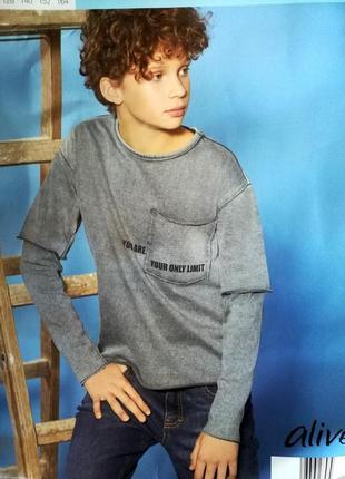 Стильный свитшот р.116 alive реглан пуловер