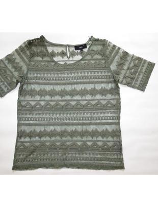 Стильная прозрачная ажурная блуза /прозрачная  футболка от next