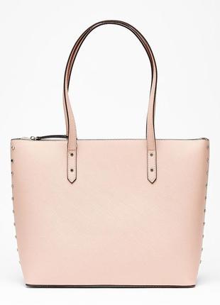Светло-розовая сумка шоппер bershka