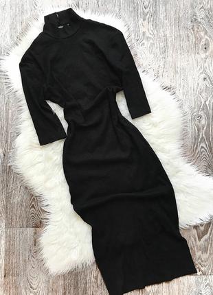 Платье миди с красивой спинкой