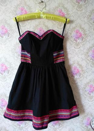 Платье - бюстье с вышивкой
