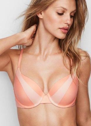 Лиф victoria's secret perfect shape bra цвет персиковый peach pout р 36д 36d