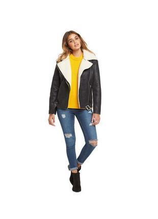 Теплая куртка, дубленка glamorous, размер 10 косуха авиатор пилот косуха с поясом