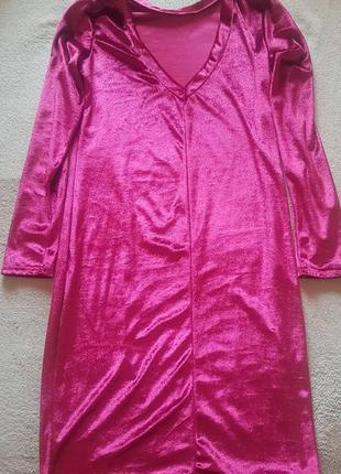 Велюровое платье актуального цвета