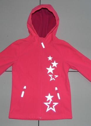 Детская куртка soft shell на флисе -topolino 122 - германия1
