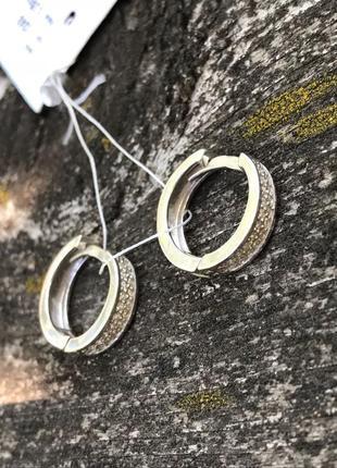 Серьги серебряные сережки ненси 2242