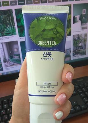 Пенка для умывания holika holika green tea