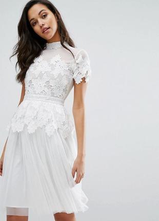 Роскошное платье с кружевной и тюлевой отделкой miss selfridge a1070