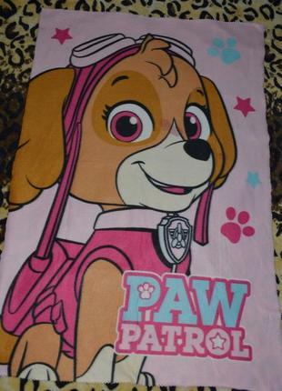 Фирменный мягкий флисовый плед покрывало на кровать  щенячий патруль paw patrol оригинал