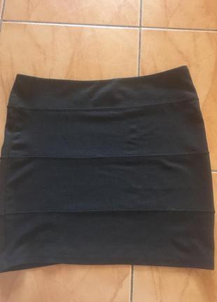 Трикотажная мини юбка