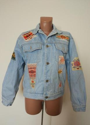 Винтажная джинсовая куртка