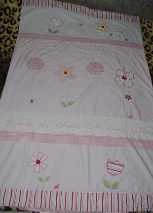 Качественный пододеяльник полуторная постель постельное белье нежное цветы next некст