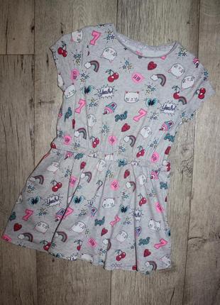Платье легкое летнее для модницы f&f 6-7 лет, рост 116-122 см.