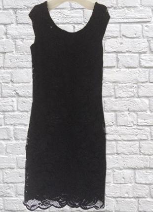 Кружевное платье открытая спинка