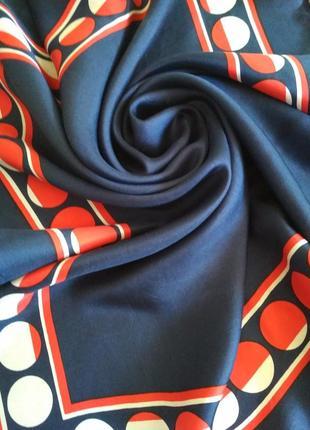 Pierre cardin винтажный 💯 шелковый платок, шов роуль