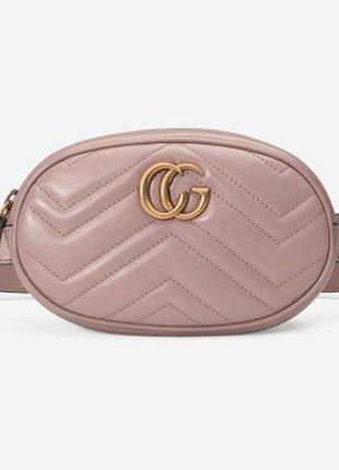 f240878cda6a Женская поясная сумка на пояс в стиле gucci (гуччи) розовая, цена ...