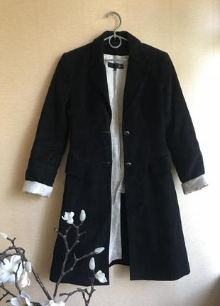 Удлинённый пиджак пальто чёрное осеннее демисезон roberto cavalli оригинал