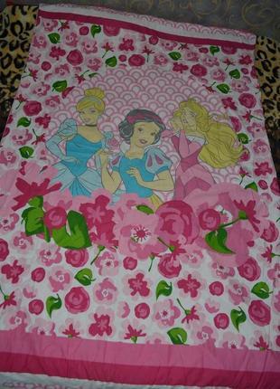 Качественный пододеяльник полуторная постель постельное белье с принцессами дисней disney