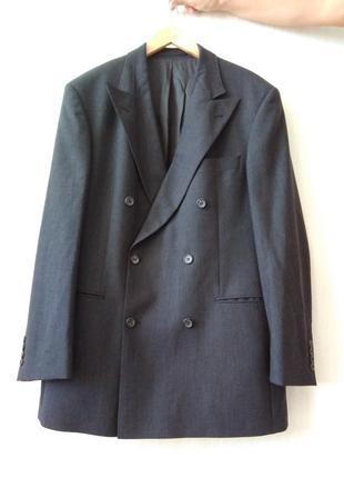 Классический шерстяной пиджак hugo boss р 52