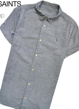 Allsaints m / лёгкая рубашка от шикарного бренда. рукава подвёрнуты и подшиты
