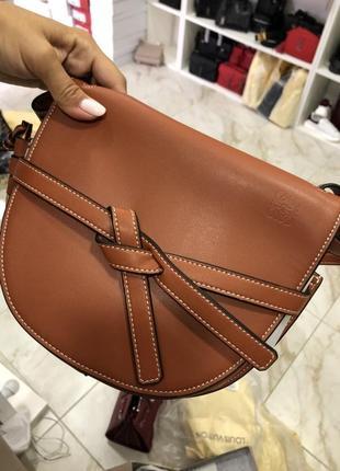 Сумка кожаная клатч кожаный сумочка женская коричневая рыжая
