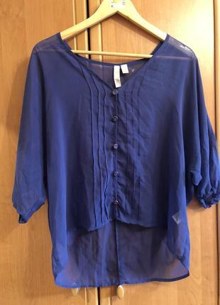 Шифонова синя блуза tini lili