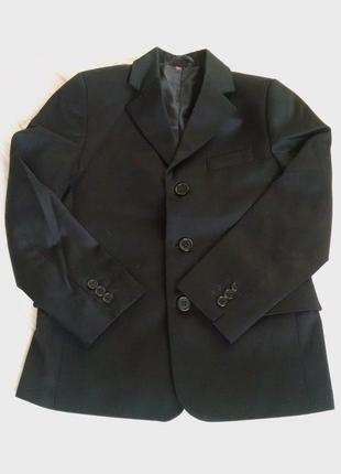 Качественный черный пиджак в школу 128