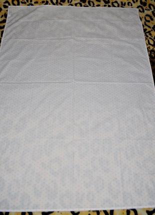 Фирменная простынь постельное белье в детскую белая в сердечки1 фото