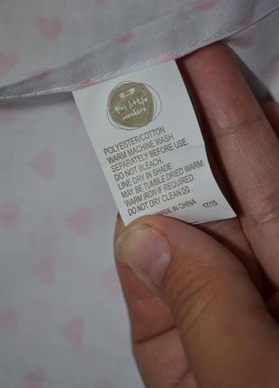 Фирменная простынь постельное белье в детскую белая в сердечки5 фото