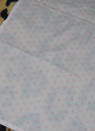 Фирменная простынь постельное белье в детскую белая в сердечки4 фото