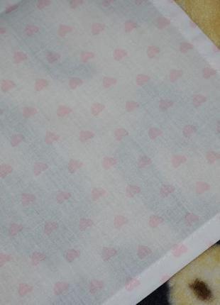 Фирменная простынь постельное белье в детскую белая в сердечки3 фото