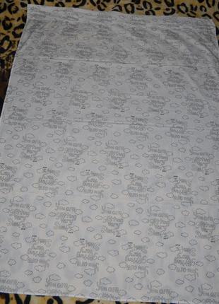 Фирменная простынь постельное белье в детскую тучки3 фото