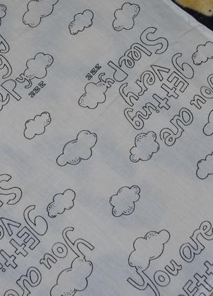 Фирменная простынь постельное белье в детскую тучки4 фото