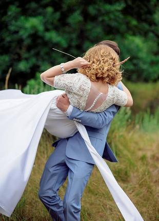 Идеальное свадебное платье ручной работы
