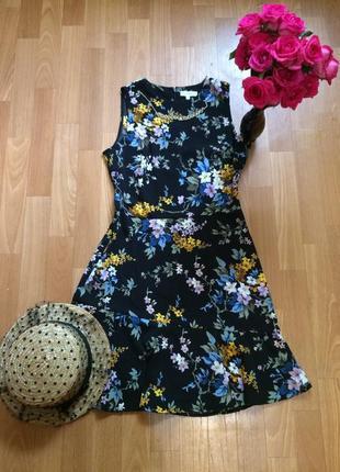 Платье миди « warehouse » с цветочным принтом