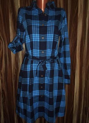 Платье -рубашка миди шотландская клетка,размеры и цвета  ,турция
