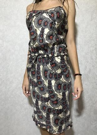 Крутое платье karen millen оригинал от дорогого бренда 100% шёлк