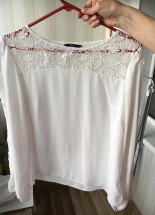 Кружевная блуза f&f