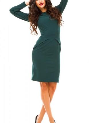 Тёмно-зелёное платье elfberg