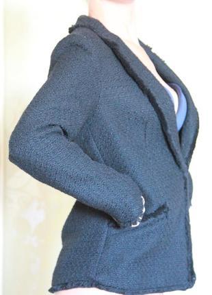 Теплый черный пиджак h&m {размер 36}