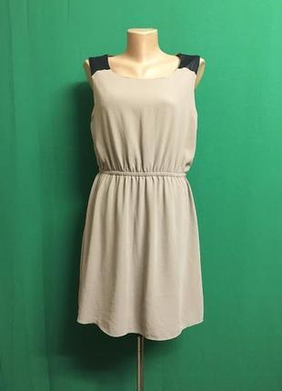 Короткое платье с вставками под кожу forever 21