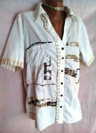 Классная катоновая блуза-рубашка, хххl, bonita.