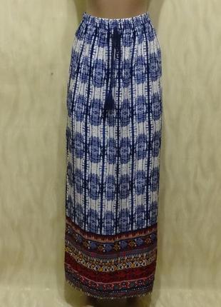 Длинная юбка из натуральной ткани papaya, р.12-14