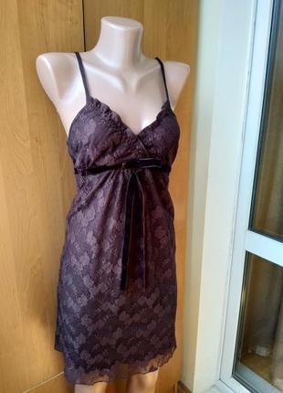 Кружевное платье комбинация topshop р. uk12 идет на р. 46-48 m-l