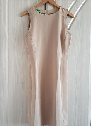 Офисное миди платье, сарафан benetton.